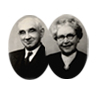 Mr George William Ormerod and his wife Mary, founders of Lancashire Sock